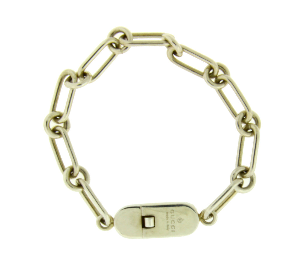 Gucci bracelet in sterling silver new in Gucci box 7 inches.