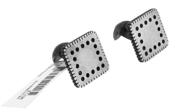 GURHAN Edge Shiny Square cufflinks in sterling silver