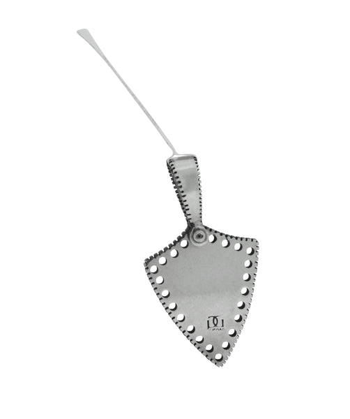 GURHAN Edge Shiny sterling silver small shield kite flower pendant necklace
