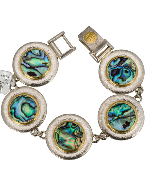 GURHAN Yellow Gold and silver Ocean Abalone Shells Bracelet New With Tag