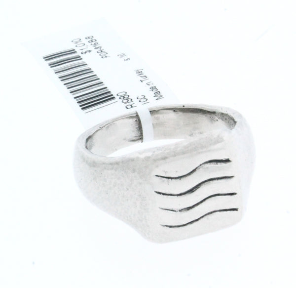 GURHAN sterling silver & palladium carved wave ring new with tag size 10