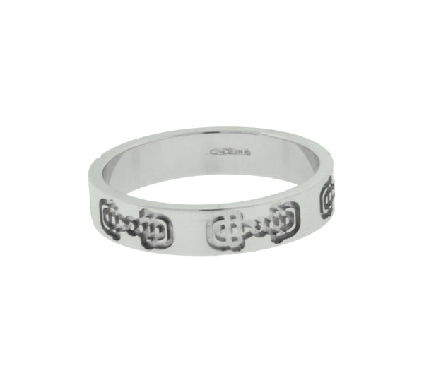 Gucci Icon band ring in 18 karat white gold new in box size 7.25