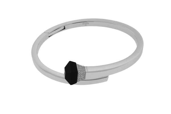 Gucci cocktail Chiodo diamond bangle bracelet in 18k white gold new in box