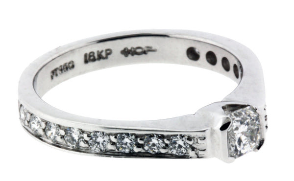 Hearts on Fire .70ct Dream Cut Diamond Engagement Ring Platinum & 18K size 6.5