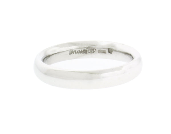 BVLGARI 3 mm wide band ring in 18k gold size 6.75
