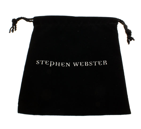 Stephen Webster Less Dents De La Mer Black Resin & amethyst cuff bangle