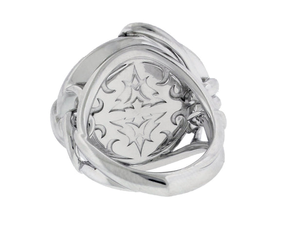 Stephen Webster Forget Me Knot large Crystal Haze Barb ring in silver size 7