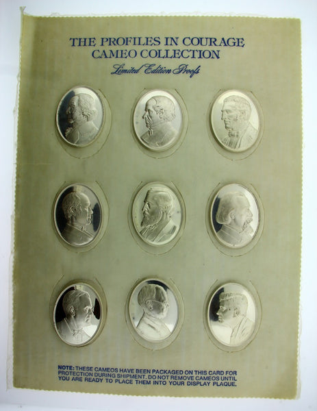 Franklin Mint profiles in courage cameo collection limited edition proofs sealed