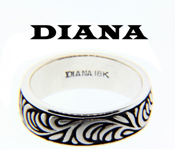 Diana 11-N7560W-G wedding band 18k White gold size 10