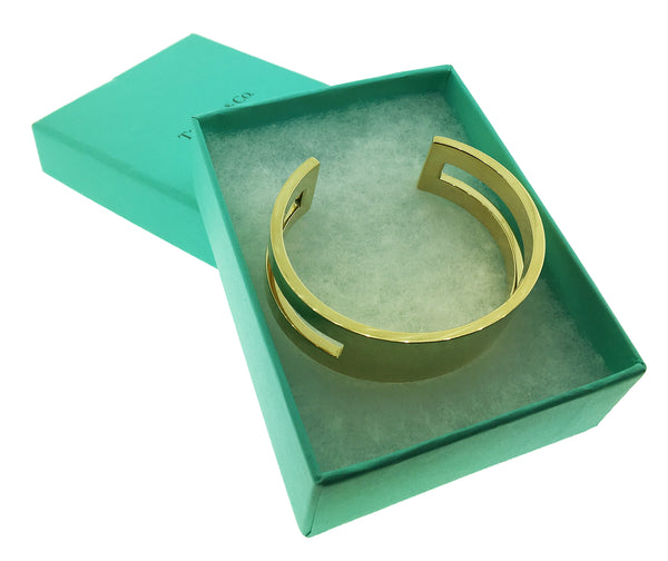 TIFFANY & CO Open Cuff bracelet bangle in 18k yellow gold size Small