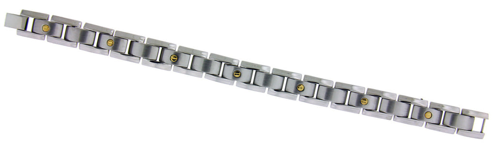 Braccio GB178 Men's bracelet in 18k & stainless steel 8.5 inches
