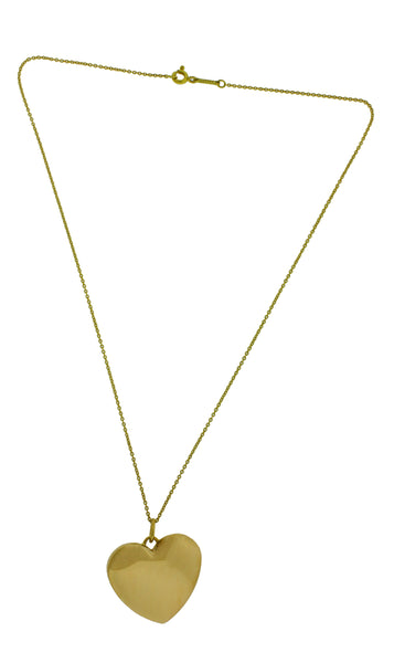 Tiffany & Co heart shape locket necklace in 18k yellow gold