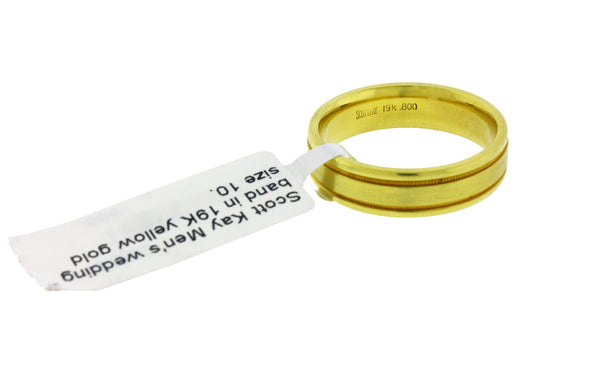 Scott Kay Men's wedding band in 19K yellow gold size 10.