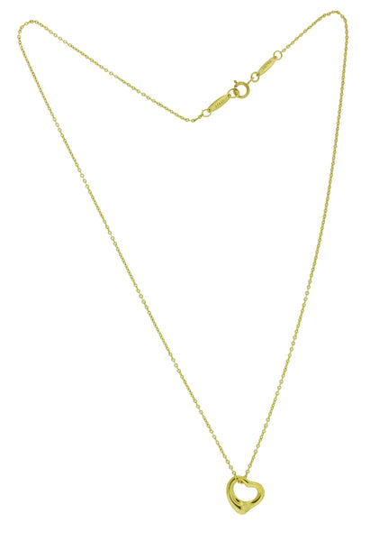 Tiffany & Co 18k gold Elsa Peretti 11mm open heart Necklace