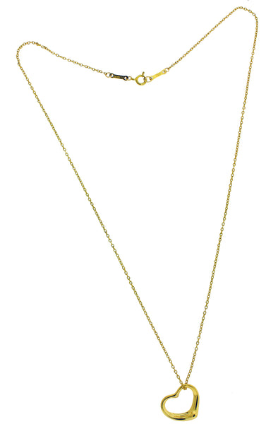 Tiffany & Co 18k gold Elsa Peretti 15mm open heart Necklace