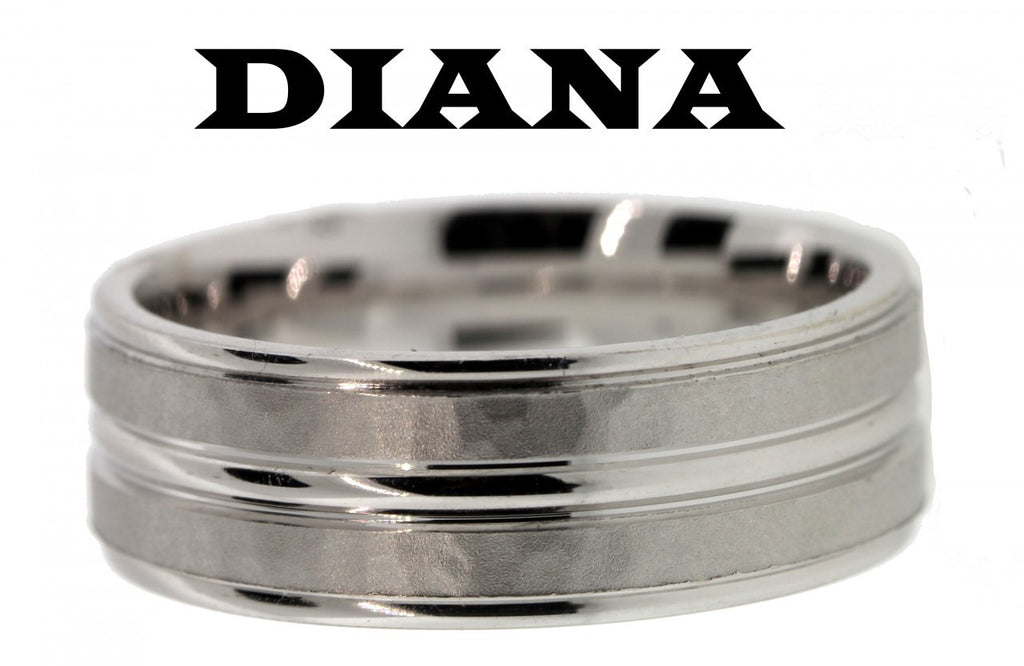 Diana 11-N6915w-G wedding band 14k White gold size 10