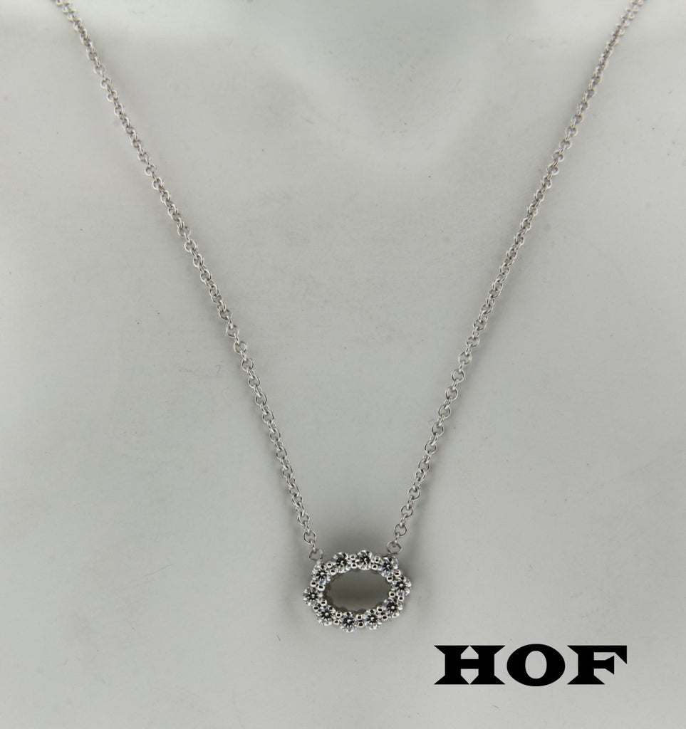 Hearts on Fire .24 carat diamond necklace in 18K white gold