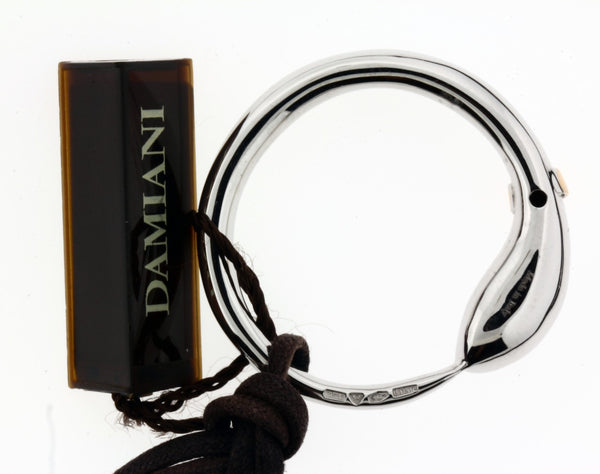 Damiani ladies .01 carat diamond cord necklace in 18k white gold new