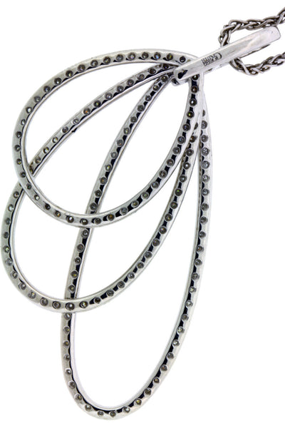 Gregg Ruth 1.3 carat diamond necklace in 18k white gold