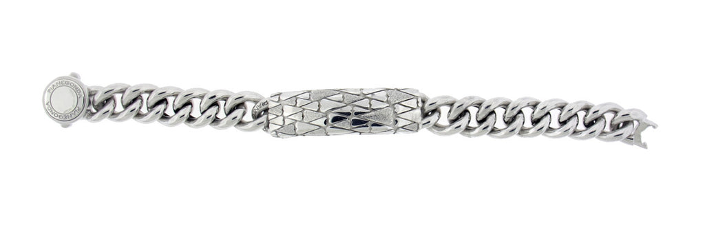 "Pianegonda ladies ID bracelet in sterling silver 7.5""."