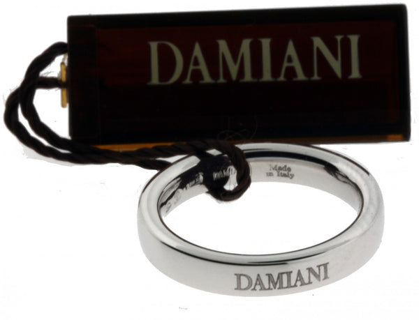 Damiani comfort fit band ring in 18K White gold new in box 3.5mm size 5.75