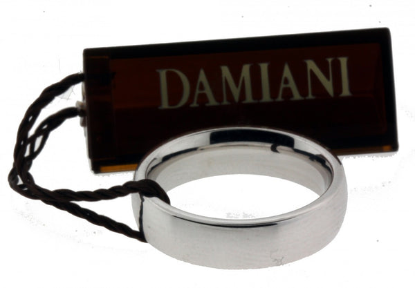 Damiani comfort fit wedding band ring in 18K white gold new in box 5mm size 5.5