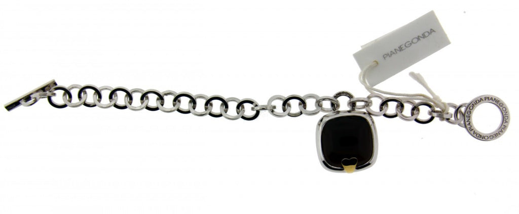 Pianegonda BAVE0835 large smokey quartz bracelet in sterling silver new with tag