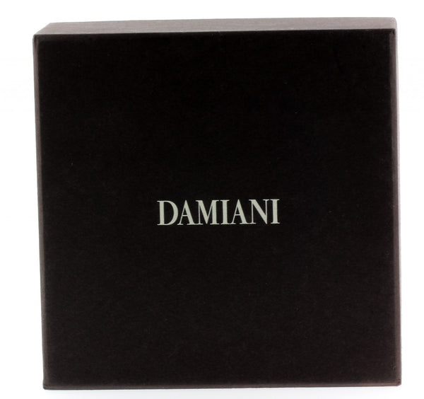 Damiani diamond cufflinks in 18k white gold new with tag in box