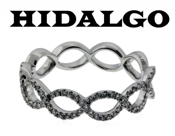 Hidalgo 1-16 diamond Wedding band in 18K White Gold