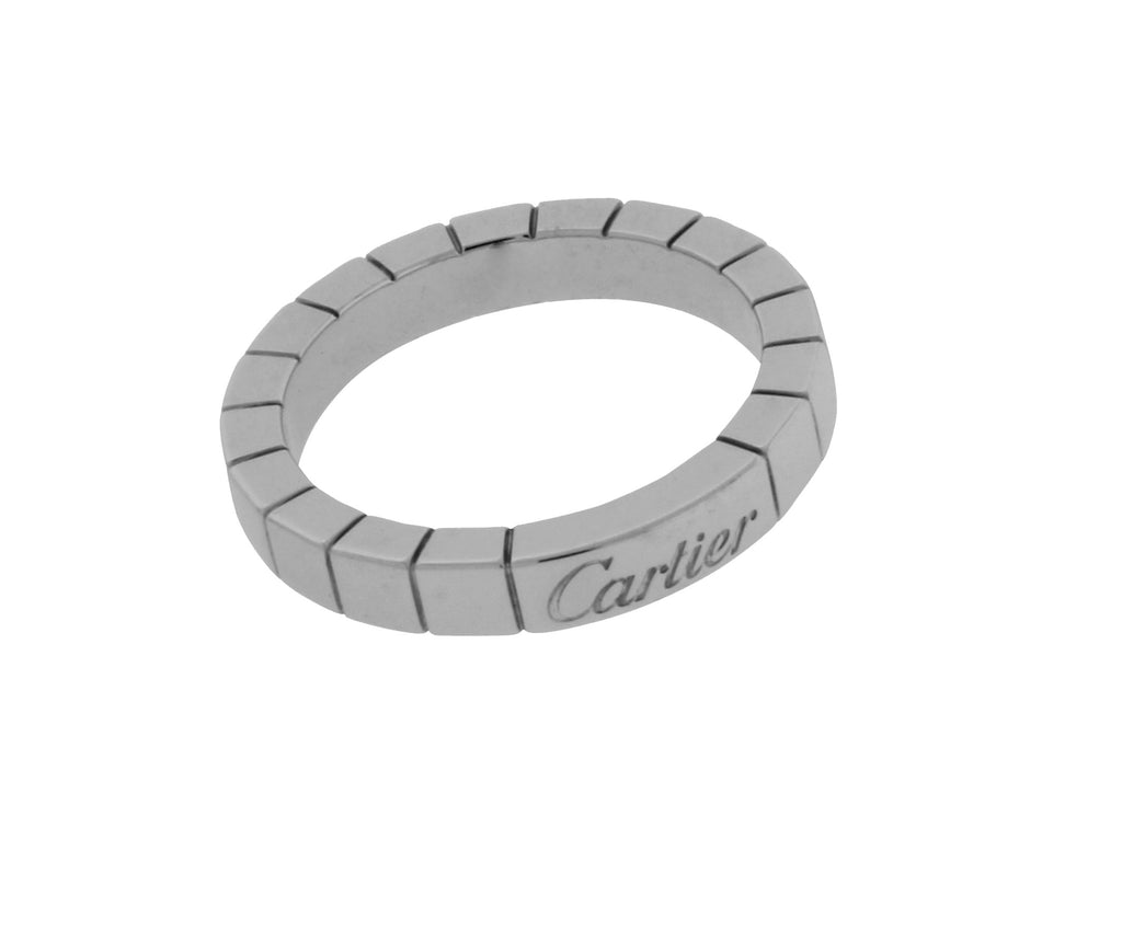 Cartier Lanieres 18k white gold band ring size 49 (US 4.75)