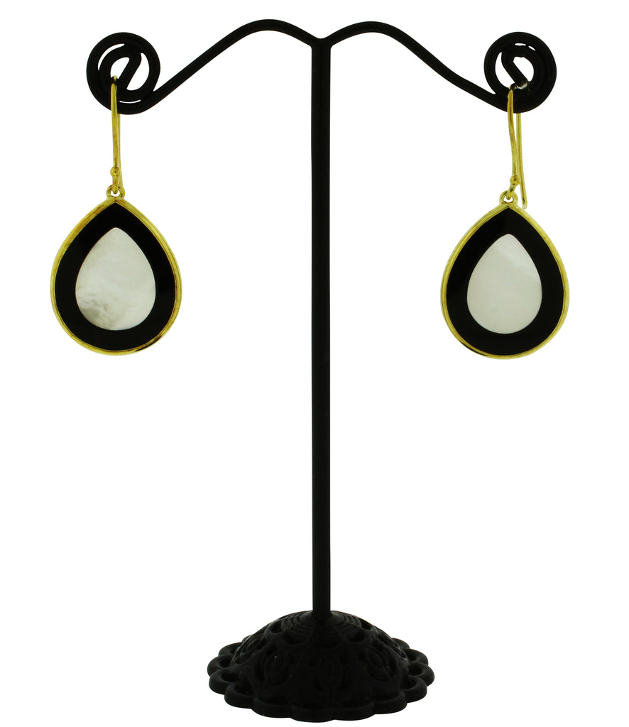 Ippolita 18k gold Rock Candy Carved layers mini Teardrop earrings in Jazz