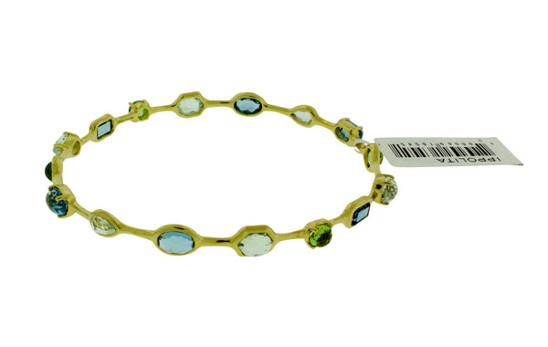 Ippolita 18k gold Rock & Candy Gelato bangle in Tartan Sett size Medium