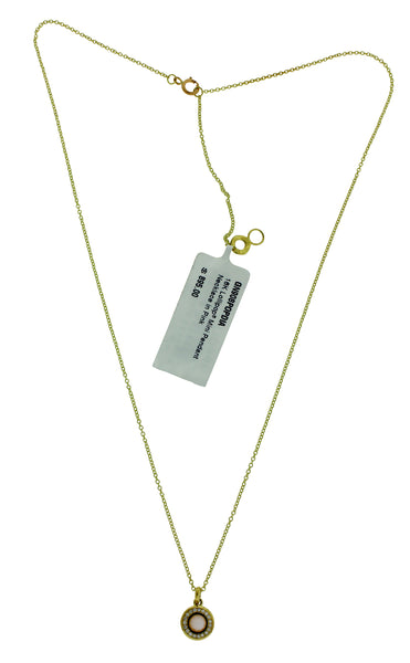 Ippolita 18k gold diamonds & Mother of Pearl mini Lollipop pendant necklace.