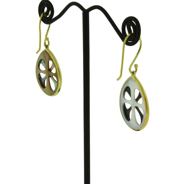Ippolita 18k gold Rock Candy Carved layers small Teardrop earrings in Phantom