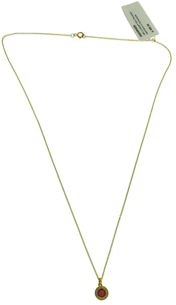 Ippolita 18k y gold diamonds & composite ruby mini Lollipop pendant necklace