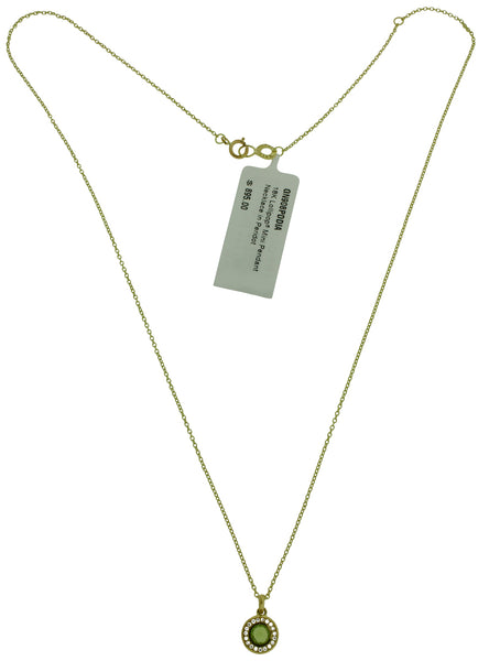 Ippolita 18k yellow gold diamonds & peridot mini Lollipop pendant necklace