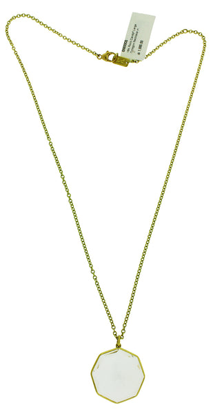 Ippolita 18k gold ROCK CANDY large Octagon shape clear quartz pendant necklace
