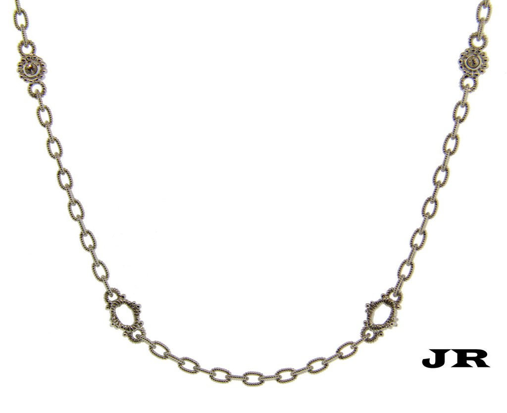Judith ripka white sapphire basic oasis necklace in sterling silver judith ripka white sapphire basic oasis necklace in sterling silver 17 inches aloadofball Gallery