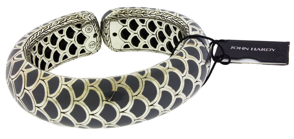 John Hardy Legends Collection Naga Dragon Scale Flex Cuff bangle sterling silver