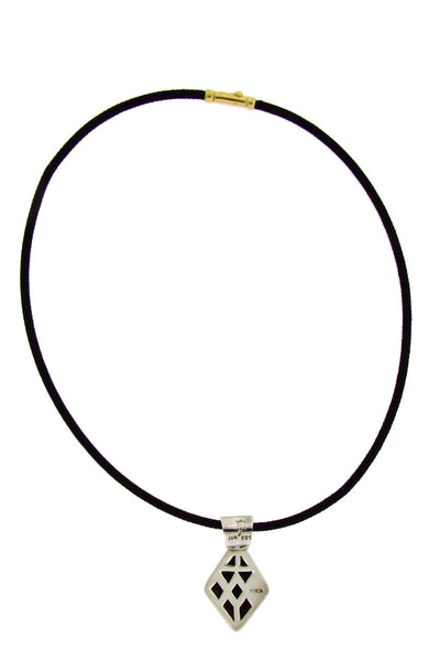John Hardy cord necklace in 18k yellow gold & sterling silver 16 inches long