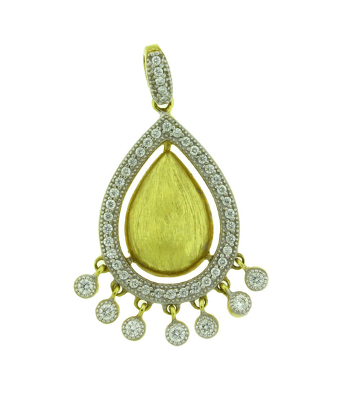 Jude Frances diamond dangle pendant in 18k yellow gold.