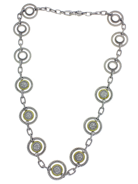 Judith Ripka Two .75 carat diamond necklace in 18k and silver