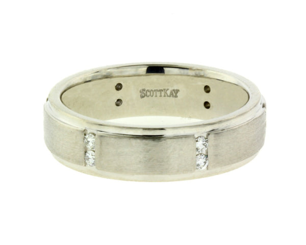 Scott Kay .18 carat diamond wedding band in 19K White gold size 9
