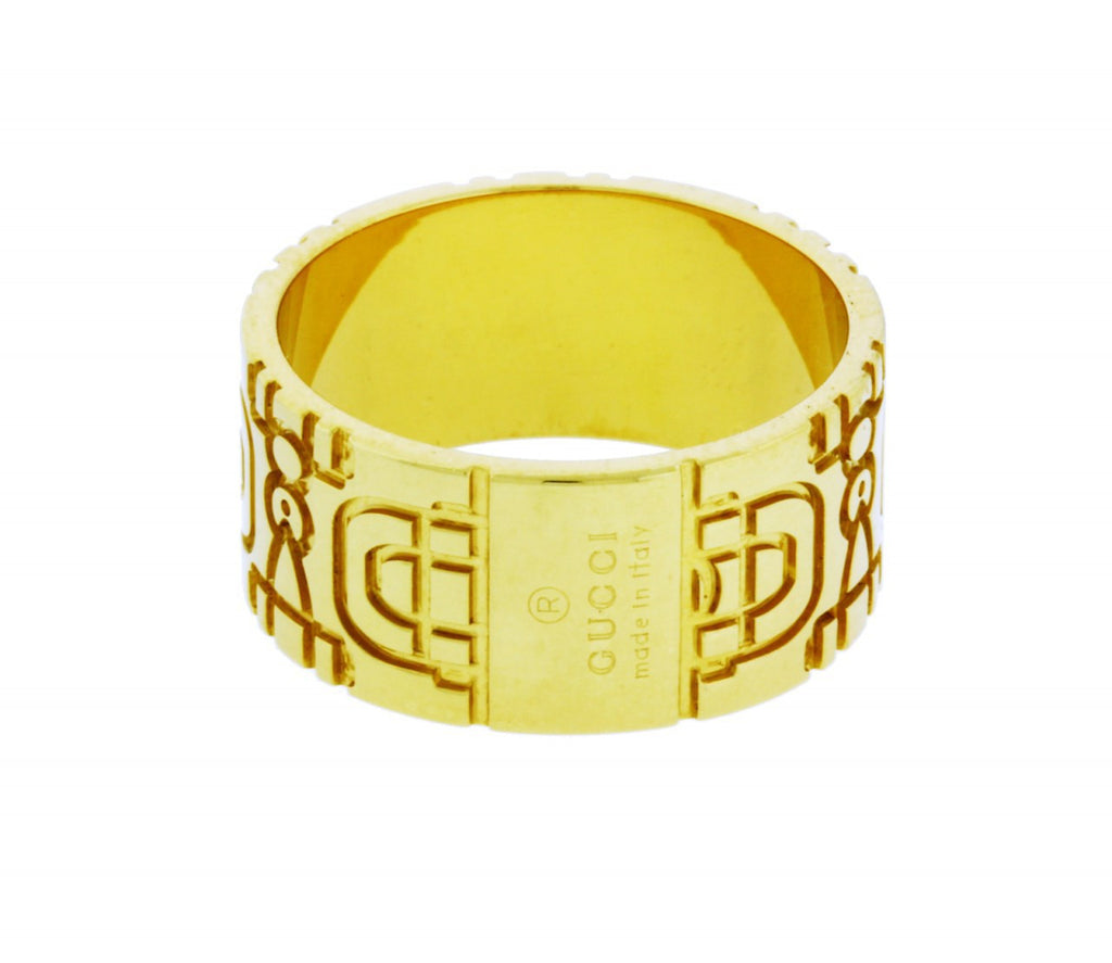 Ladies Gucci ring 18k gold new in box
