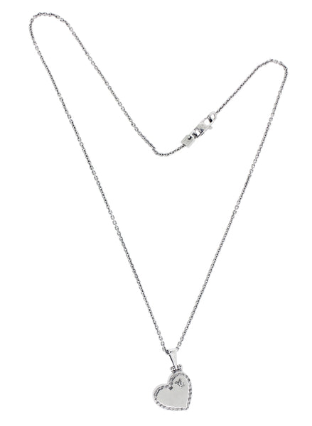 Louis Vuitton locket necklace in 18k white gold 16""