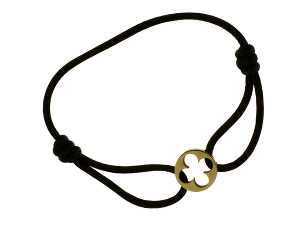 Louis Vuitton brown cord bracelet in 18k Yellow Gold