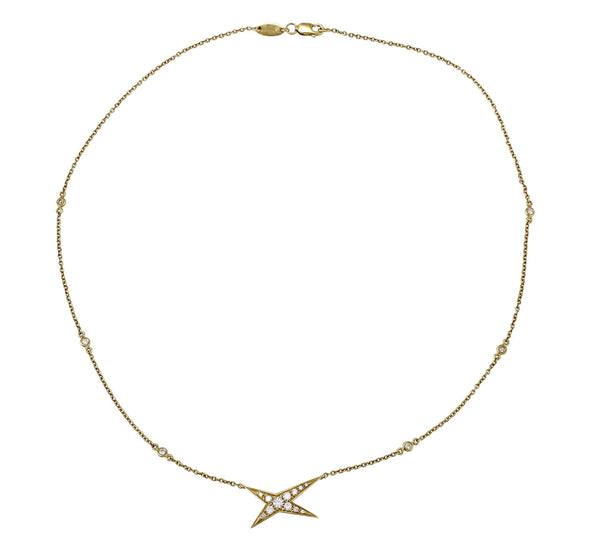 Mauboussin diamond star necklace in 18k yellow gold.