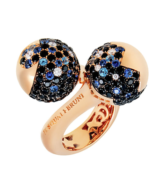 Pasquale Bruni Sogni D'oro VS1 G Diamond & Sapphire Ring In Rose gold Size 6.75