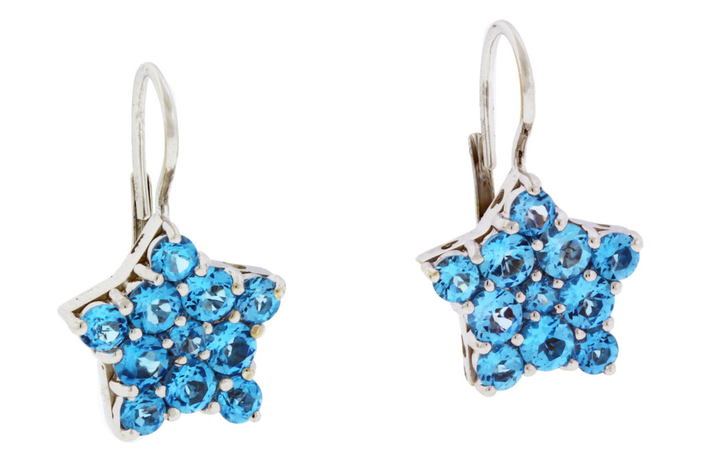 Pasquale Bruni blue topaz earrings in 18k white gold.