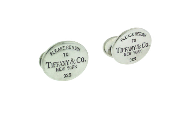 Return to Tiffany & Co cufflinks in sterling silver used in good condition